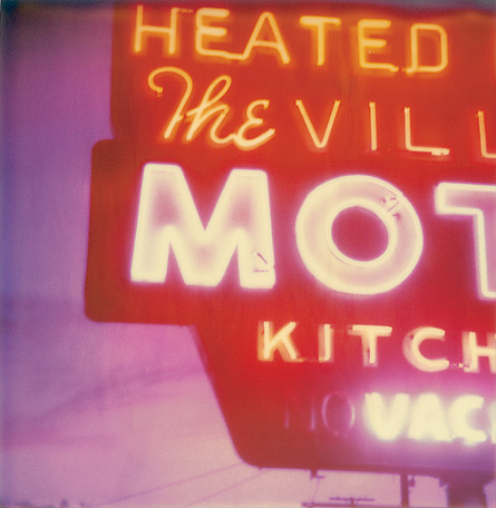 The Village Motel Sunset by Stefanie Schneider, 2009