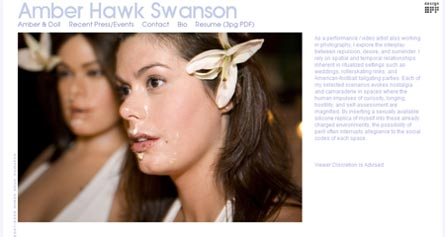 Amber Hawk Swanson's website