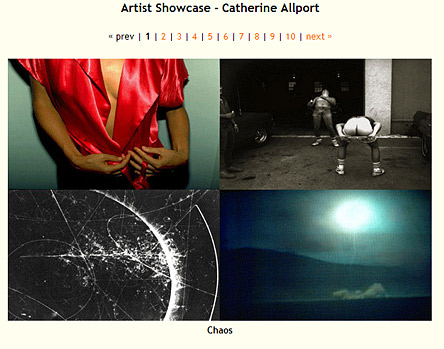 Photographer Catherine Allport's online presentation