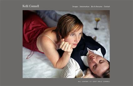 Screendump from queer photographer Kelli Connell's website, September 2008