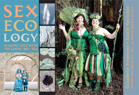 Sexecology postcard by Annie Sprinkle and Elizabeth Stephens