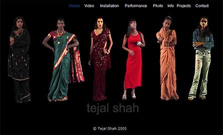 Tejal Shah website screendump 2010