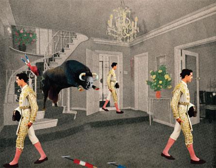 A Spanish interior, Collage by Anne Bentley