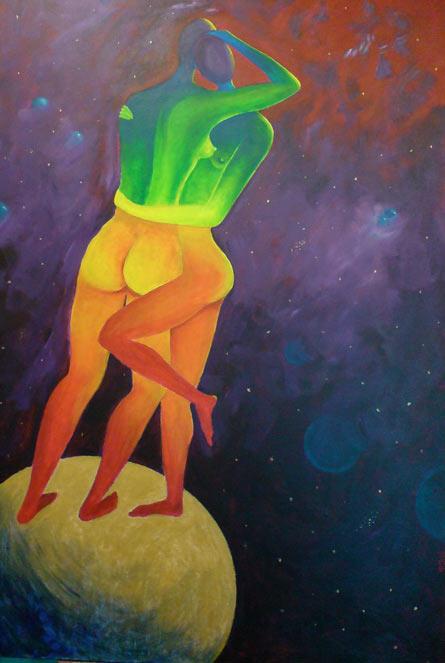 Latebloomerladies, a painting by Rikke Thoresen