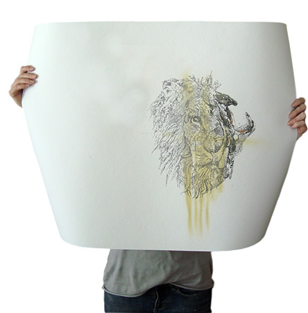 Lion, a drawing by Erin Smith