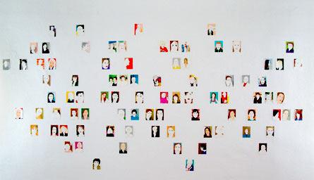 Installation view My Ancestors by Martina Minette Dreier in AREA 53, Vienna, Austria
