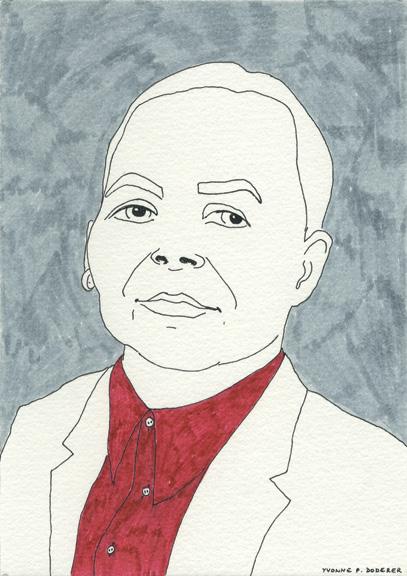 Yvonne, drawing by Martina Minette Dreier