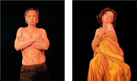 Paintings from the series 'And then He was a She' by Sadie Lee
