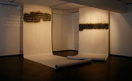 Text about Jansson and Asp, installation by Laura Lilja, 2010-11