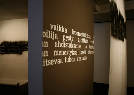 Text about Juvonen and Olsson, Installation by Laura Lilja, 2010-11