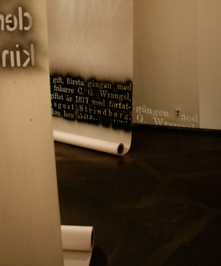 Text about Siri von Essen, installation by Laura Lilja