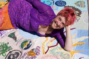 V Kingsley and 'I am a Mermaid' art quilt