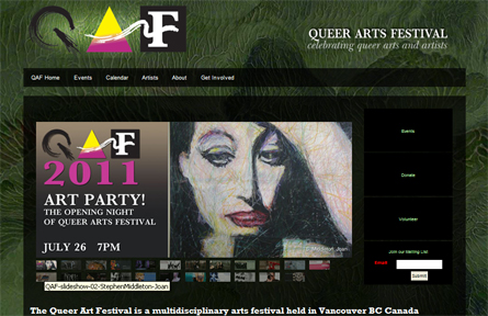 QAF, the Queer Arts Festival in Vancouver