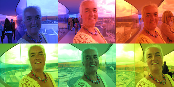 My Sun Tan - Selfportrait in a Rainbow by Birthe Havmoeller, 2011