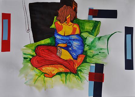 An Illustration 1 - colored pens, Violetta Jara, 2011