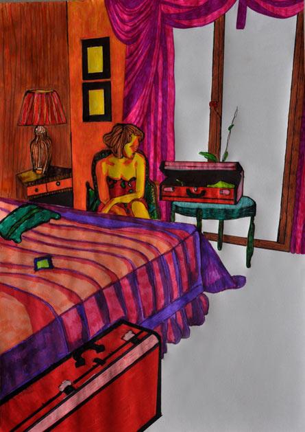 An Illustration 3 - colored pens, Violetta Jara, 2011