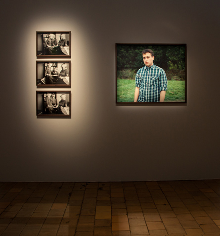 Installation view from The Boy & The Twins by Åsa Johannesson, Fotogalleriet [format], Malmö, Sweden, 2011