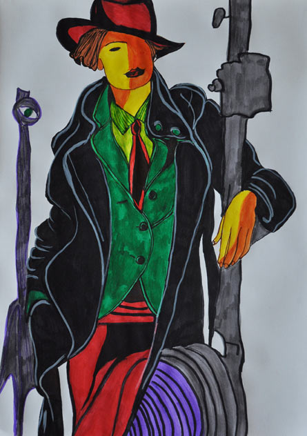 An Illustration 4 - colored pens, Violetta Jara, 2011