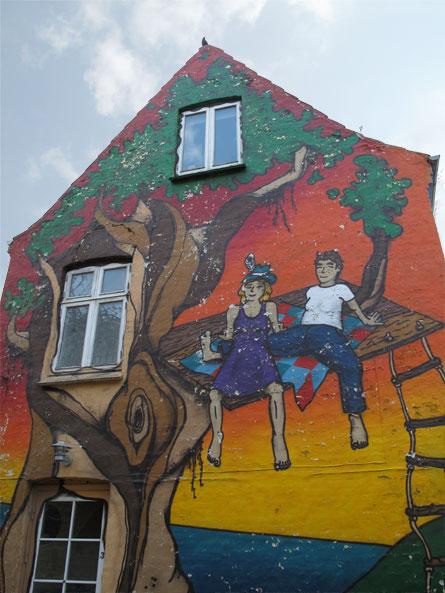 Mural, Skt. Anna Gade, Aarhus, Denmark
