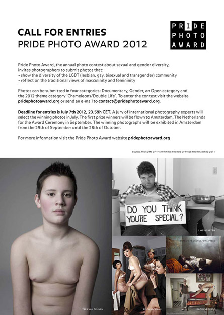 Pride Photo Award 2012 - Call for Entries