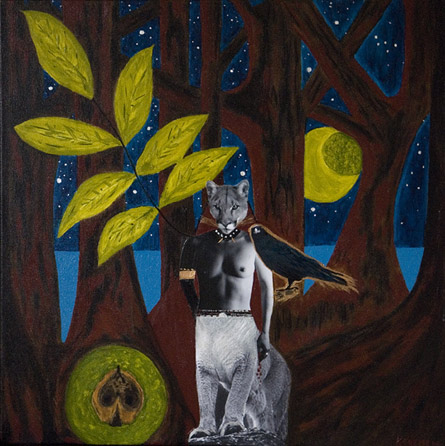 Lion, Raven and Walnut Tree by artist Kimberley French