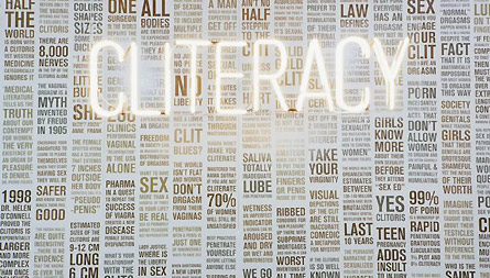 Cliteracy by Sophia Wallace, 2012