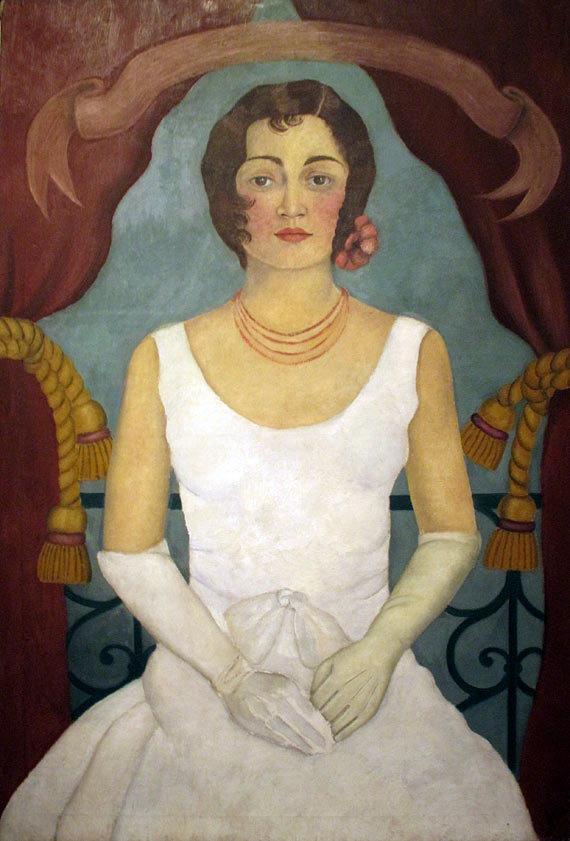 Lady in White by Frida Kahlo