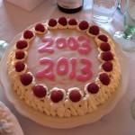 2003 - 2013 cake