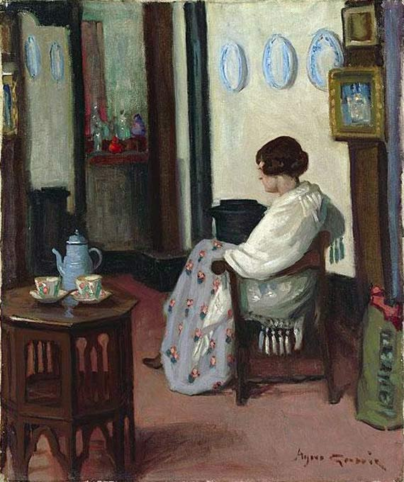 Painting by Agnes Goodsir