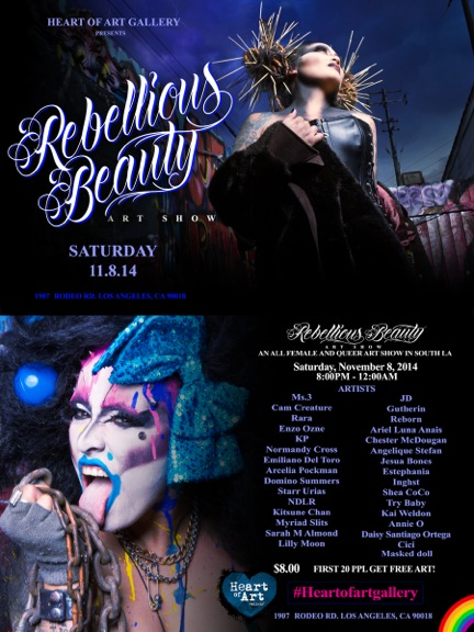 Rebellious Beauty invitation