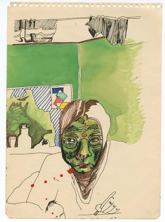 A drawing by Barbara Hammer