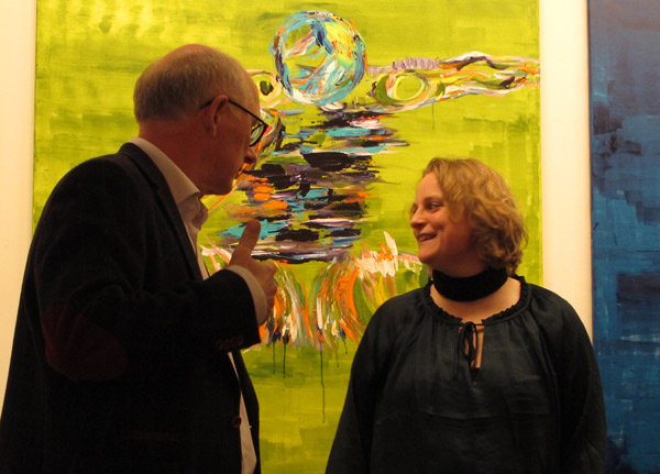 Gallerist Thorkild NB Nielsen  and Henriette Hellstern