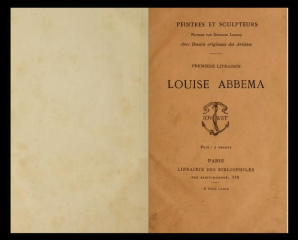 Louise Abbema, book cover, 1879