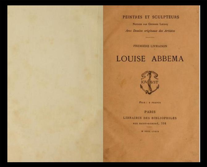 Louise Abbema, book cover, 1879