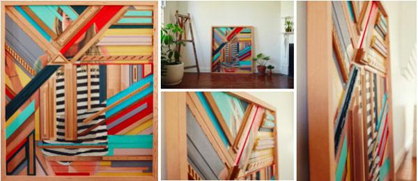 Wall hanging by Kim Leutywyler and Josh Pinkus