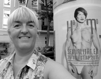 Birthe Havmoeller selfie with Heather Cassils