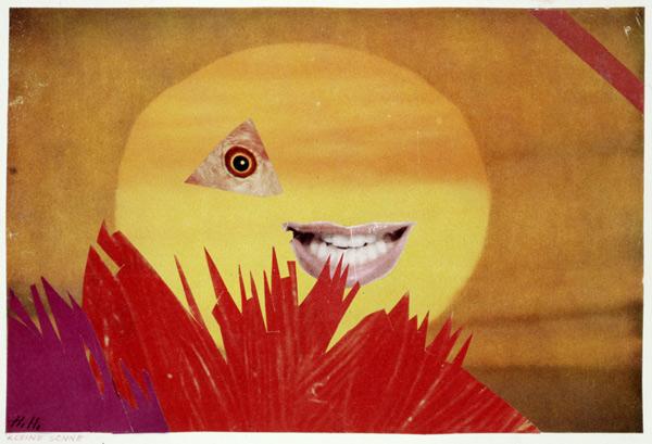 Kleine Sonne by Hannah Höch, 1969