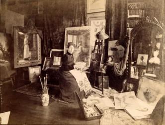 Anna Elisabeth Klumpke in her studio