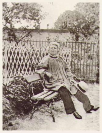 Rosa Bonheur in her garden