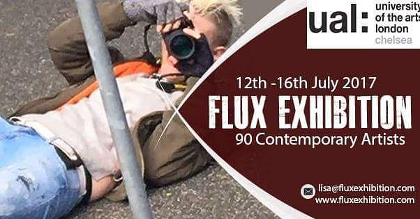 Suzie Pindar . Flux Exhibition invitation
