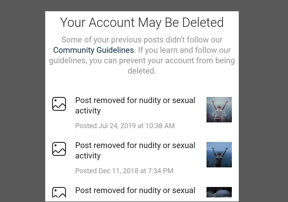 Instagram Censors Artworks Showing the Female Body