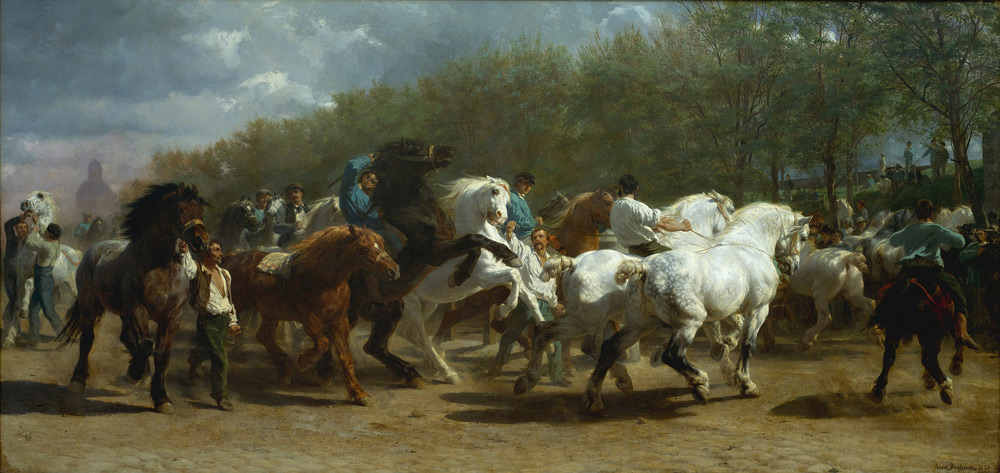 Painting by Rosa Bonheur
